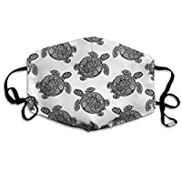 Bikofhd Reusable Face Mouth Cover Mask - Safety Reirator Sea Turtle Print Earloop Mask