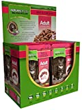 Natures Menu Adult Cat 12 x 100g Pouches of Food - Beef & Chicken
