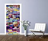 Artland Türbilder selbstklebend aus Vliesstoff oder Vinyl-Folie MrOK Bunte Mauer Architektur Architektonische Elemente Fotografie Bunt A7MP