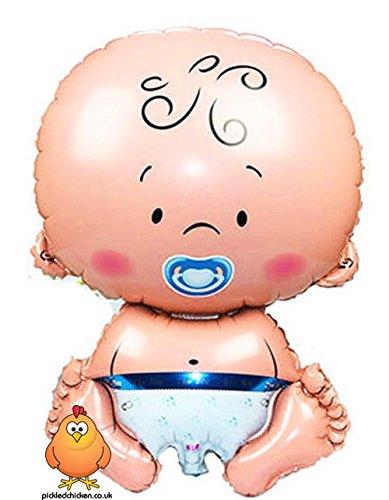 Chicken Cute (Giant Cute Boy Baby Supershape Helium Ballon Dekoration geeignet für Baby Dusche Taufe Neugeborene Geburt)
