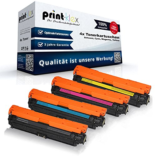 Preisvergleich Produktbild 4x kompatible Tonerkartuschen für HP Laserjet Enterprise 700 Color M775dn MFP M775f MFP M775 Series M775z MFP M775z plus CE 340 341 342 343 Black Cyan Magenta Yellow - Sparpack