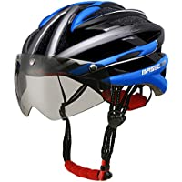 Base Camp Firewall Cycle Helmets,Adult Bike Bicycle Helmet with Detachable Magnetic Visor Goggles Shield