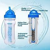 GEERTOP Persönlicher Tragbares und Auslaufsichere Sportflasche / Wasserfilter Flasche mit Filter (600ml) BPA frei, FDA Geprüft, Ideal für Outdoor-Sport, Camping, Wandern, Radfahren und Abenteuer (Grün) -