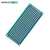 2PCS Doppel-Side-Prototyp PCB Brot Karton tinned Universal 3x7 cm 30x70 mm FR4 grün 3x7cm 2,54 mm Gitter FR-4 Glasfaser DIY-Kit