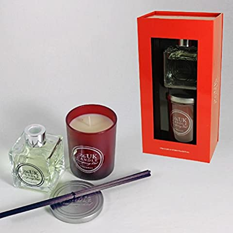 Großbritannien Candle Company Jar Kerze & Reed Diffusor Set–Zimt