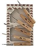 Stubai 585606 Confezione Mini sgorbie Manico 100 mm 6-pzi