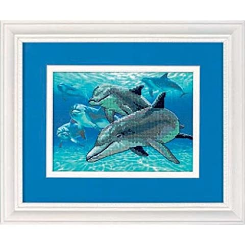 Dimensions Dimensions Mini Stamp Cross Stitch: Deep Sea Dolphins