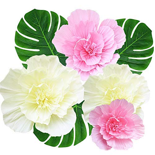 Amajoy - Grandes Flores de Papel crepé, Flores Hechas a Mano para escaparates, Pantalla para niños, decoración del hogar, Baby Shower, cumpleaños, Bodas, Fondos Vivos, decoración de Pared