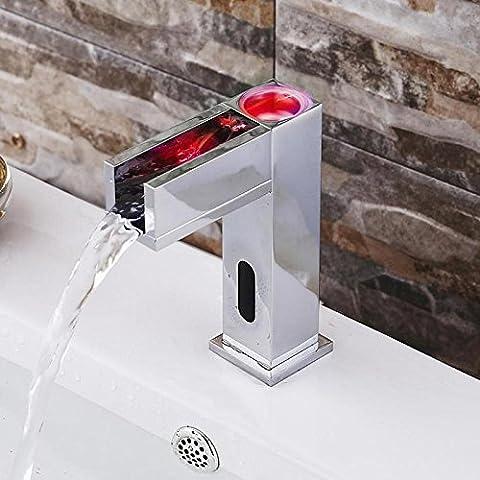 XBR lavabo robinet _ 7mélangé eau le contrôle de la température robinet square induction Washington général du bassin, trois
