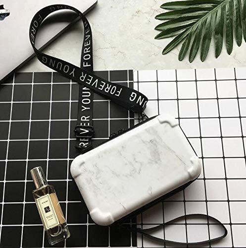 Zenguen Umhängetasche Kosmetiktasche, Mini Marmor harten Koffer Umhängetasche Reisen Make-up Umhängetasche