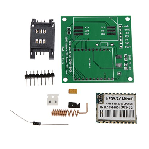 MagiDeal 1pcs M590E GSM GPRS Module 900m-1800m Sms Message DIY Kits M590 CPU MCU Test (Gsm-kit)