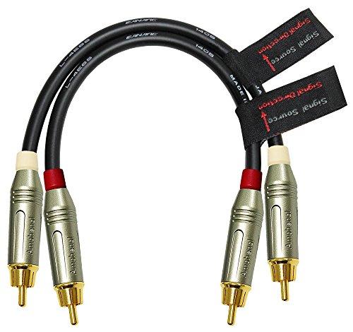 30cm RCA Kabel Paar-Made mit canare l-4e6s, Star Quad, Audio Interconnect Kabel und Amphenol von Druckguß, vergoldet RCA Stecker-gerichtete Design für beste Leistung Audio - / Video-interconnect-kabel