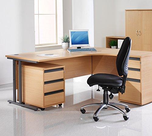 Büro Elefant OE05–25M2B Zwei Schublade 567mm High Mobile Ständer in Buche
