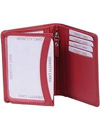 porte-cartes pour pièce d'identité LEAS, cuir véritable, rouge - ''LEAS Card-Collection''