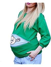 Q.KIM Ropa de maternidad Mujer Otoño Invierno Sudaderas Ropa premamá Maternity Tops Outwear