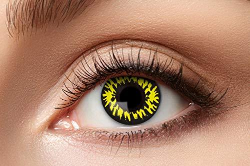 Zoelibat 10130486 Kontaktlinsen, gelb Gemustert