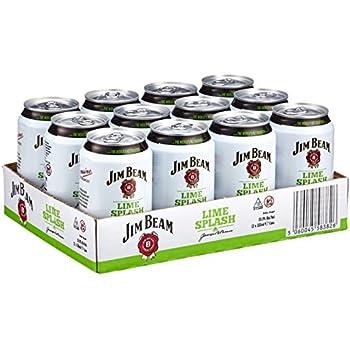 Jim Beam Lime Splash Bourbon Whiskey-Mix Dose (12 x 0.33 l)