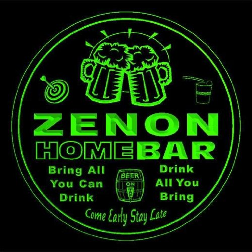4x-ccq49736-g-zenon-family-name-home-bar-pub-beer-club-gift-3d-coasters