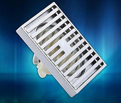 KHSKX Mode und geruchsabweisend Innenkern Abfluss, High-End-ultra dünne Verschiebung Kupferrohr Dusche Boden Abfluss 40