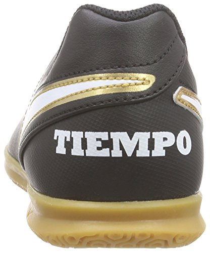 Nike Unisex-Kinder Tiempo Rio Iii Ic Fußballschuhe Schwarz (Black/White)