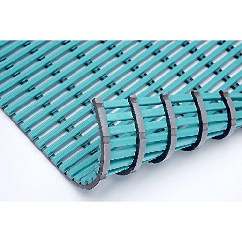Nassraummatte, antibakteriell, pro lfd. m mint, Breite 1000 mm - Antirutschmatte Antirutschmatten Bodenbelag Bodenmatte Bodenrost Bodenschutzmatte Gummimatte Sicherheitsmatte Anti-Rutschmatte -