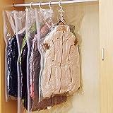 WCOCOW 12 Vakuum zum Aufhängen Tasche platzsparend Aufbewahrungsbeutel für Kleidung Kleid Coat mit Handvakuumierpumpe Vakuum Kompressions(12pcs Hängen Kompressionsbeutel)