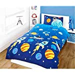 Childrens Reversible Single Bed Duvet Cover and Pillowcase Bedding Set