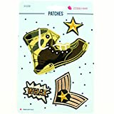 Applikationen Patches Army Stiefel Stern Abzeichen - Preis gilt für 1 Päckchen á 4 Motive