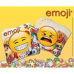 Happy People 15962–Emoji Servilletas, 33x 33cm, 20unidades