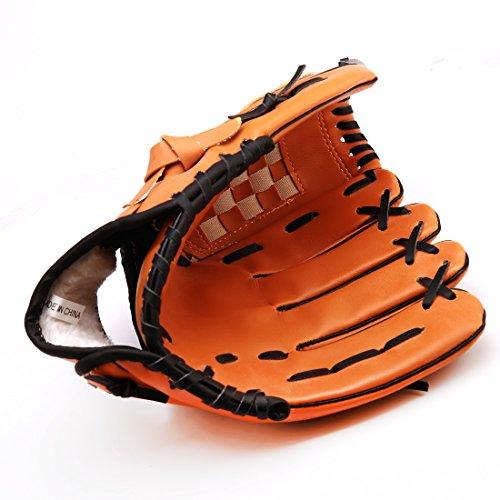 Andux Baseballhandschuh Softball-Handschuh-Außen Team Sports Left Hand Brown BQST-01 (12,5