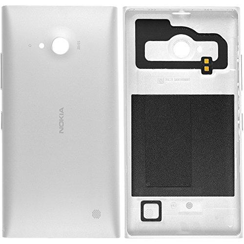 Original Nokia Akkudeckel white / weiß für Nokia Lumia 730 - OHNE NFC (Akkufachdeckel, Batterieabdeckung, Rückseite, Back-Cover) - 02507Z7