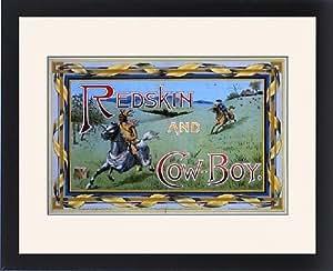 Tableau encadré Motif de piment doux variété Redskin et game Boy