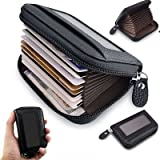#1: Cable Hunter™ Leather Business RFID Credit Card Holder