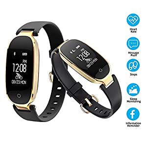 Smart Bracelet Sports Bluetooth Watch Heart Rate Fitness Tracker Activity Sleep Monitor IP67 Waterproof Smart Watch Wristband for iOS Android Phone Samsung iPhone