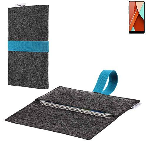 flat.design vegane Handy Hülle Aveiro für Bluboo D5 Pro passgenaue Filz Tasche Case Sleeve Made in Germany