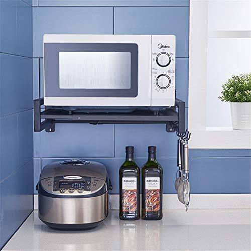 QINAIDI Multifunktions-Küchen-Mikrowellen-Rost aus Edelstahl, Wandhalterung für Reiskocher -