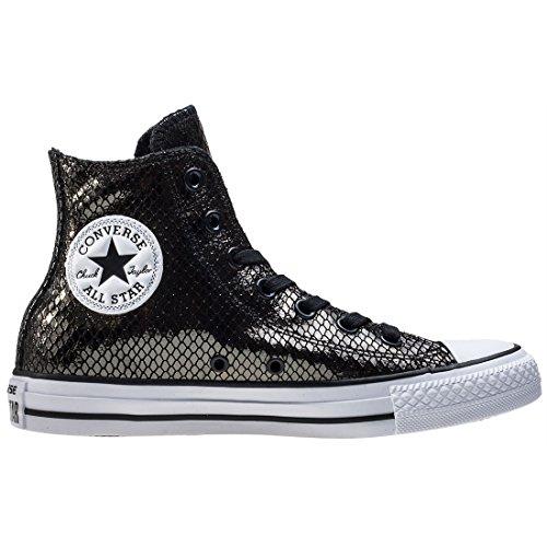 Converse All Star Hi Femme Baskets Mode Noir Noir/blanc