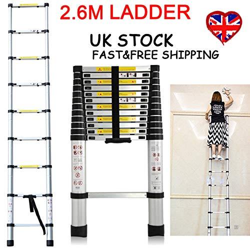 Preisvergleich Produktbild Generic EScopic L Opic Ladder Duty n Extenda Mehrzweckleiter Aluminium Teleskopleiter Ausziehbar Heavy Zweck Al