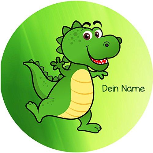 Tortenaufleger Dino5 mit Wunschtext / 20 cm Ø