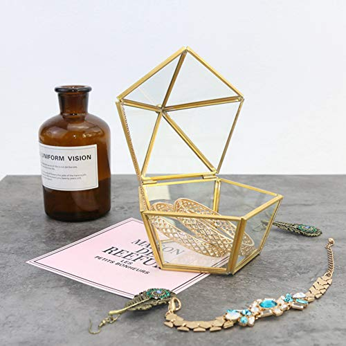 Dough Q Terrario de Cristal geométrico, Caja para Joyas, Caja para An