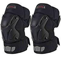 Carreras de Rugby de la motocicleta de la fibra de carbono Off - Equipo del caballero de la rodilla de la rodilla del vehículo de camino ( Tamaño : L )