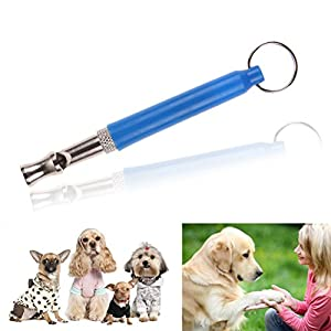 Ueetek Ultrasons Sifflet de dressage de chien chiot Sifflet pour animaux de compagnie d'entraînement (Bleu)