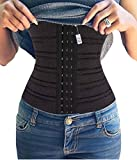 Gotoly Waist Cincher Training Korsett Body Shaper Damen Bauch Weg (Large, Schwarz)