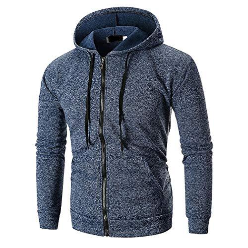 Tomasa Herren Kapuzenpullover Hoodie, Lässig Kapuzenjacke Front Zip Hooded Kapuzenpullover Outwear Front-zip-hoodie