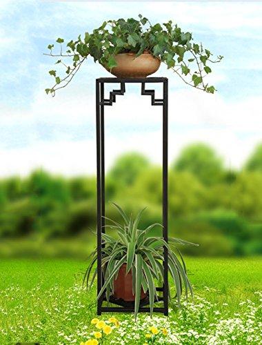 Pflanzenstandplatz Schmiedeeisen Multipurpose Flower Stand Plant Display Rack | 2 Farbe 2 Größe (Farbe : A, größe : 79 * 24cm)