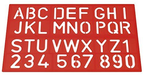 Westcott E-10600 00 Normografo per scrittura, lettere e numeri, 40 mm, 3 colori assortiti