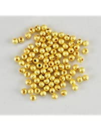 Gold Plated Stardust Sparkle Round Beads 4mm (100)