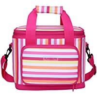 MIER 18 lattine banda Picnic Cooler Bag per adulti Insulated Lunch Box Bag per uomini e donne