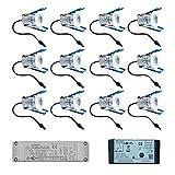 Milano Cree LED-Terrassenbeleuchtung Einbaustrahler Set 12 x 3 Watt Somfy IO