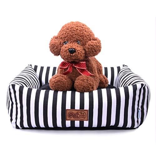 AINIYF Haustier-Hundebett-Kissen-Sofa-Art Couch-Haustier-Bett for Hundekatzen-bequemes Hundehütte-Katzen-Nest (Size : M 52X52X17CM) -